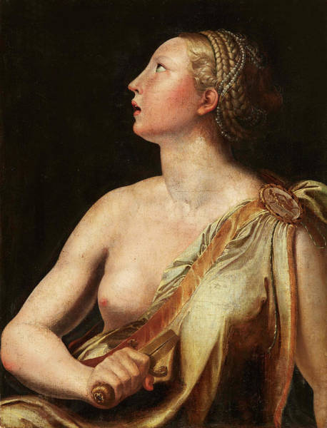Suicide Painting - Lukretia by Italian master of the 16th century