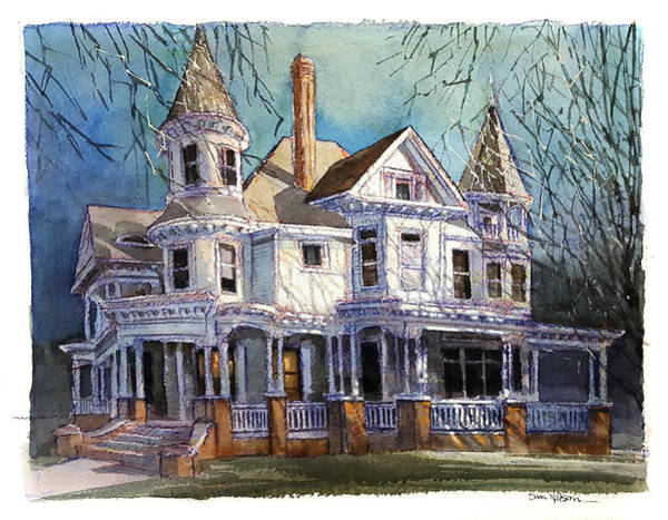 Wall Art - Painting - Lumber Barons Mansion, New Bern by Dan Nelson