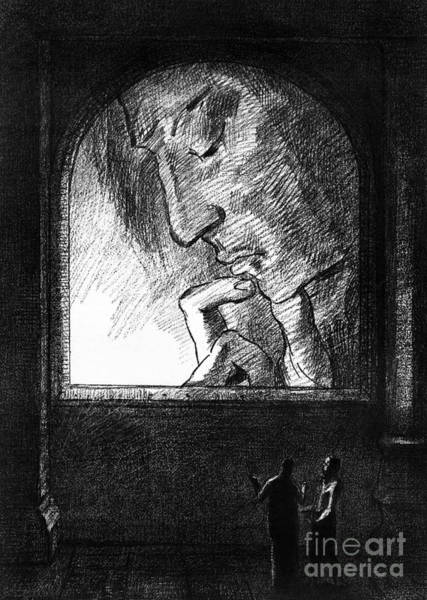 People Watching Painting - Lumiere, 1893 by Odilon Redon