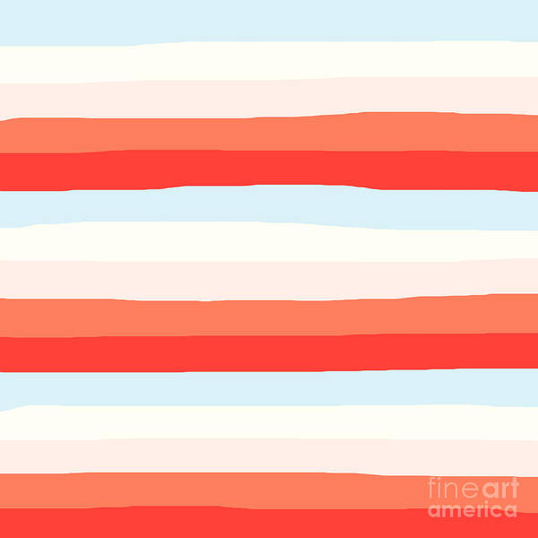lumpy or bumpy lines abstract and colorful - QAB268 Art Print