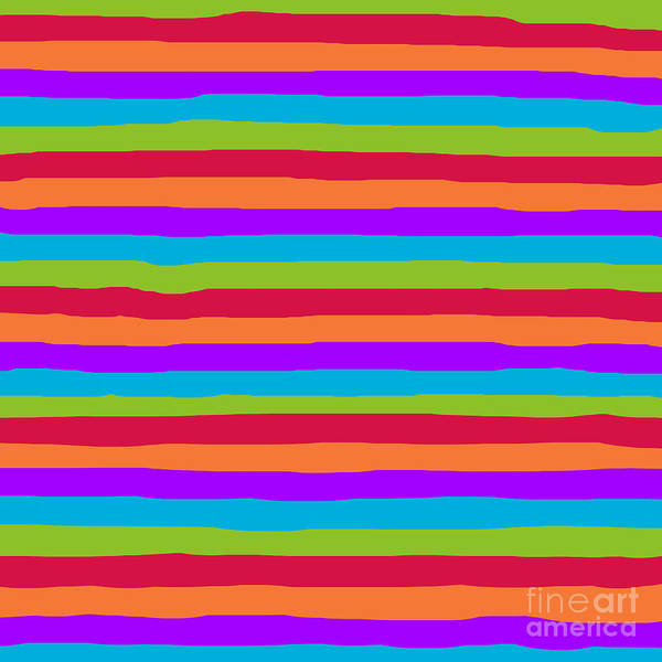 lumpy or bumpy lines abstract and summer colorful - QAB273 Art Print