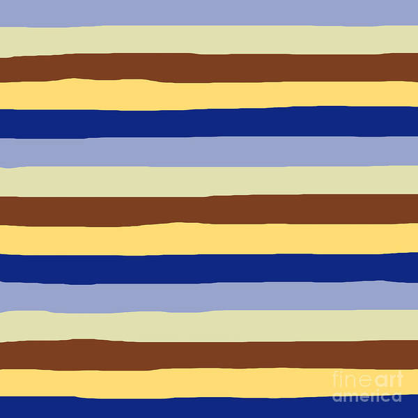 lumpy or bumpy lines abstract and summer colorful - QAB277 Art Print