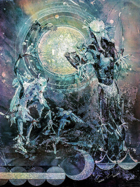 Painting - Lunar Dance by Connie Williams