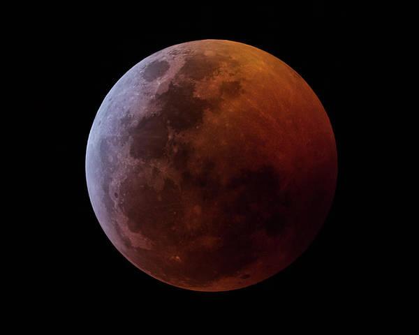 Photograph - Lunar Eclipse 2019_11h44m by Dennis Sprinkle