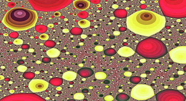 Digital Art - Lunar Eggs Abstract Art by Don Northup