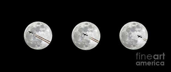 Photograph - Lunar Silhouette In Sequence by Kevin McCarthy