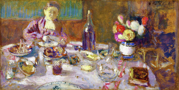 Wall Art - Painting - Luncheon - Digital Remastered Edition by Edouard Vuillard
