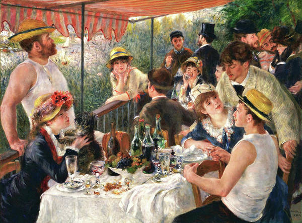 Music City Painting - Luncheon Of The Boating Party - Digital Remastered Edition by Pierre-Auguste Renoir