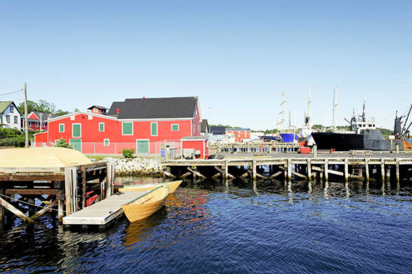 Canadian Culture Photograph - Lunenburg Harbor With Fishermens by Brytta
