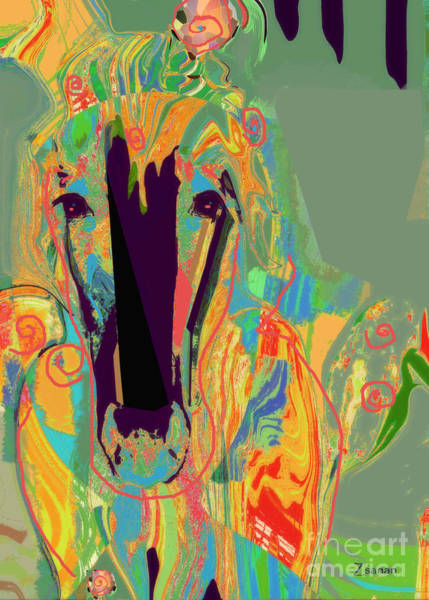 Organic Abstraction Mixed Media - Lungta Windhorse No 6 by Zsanan Studio