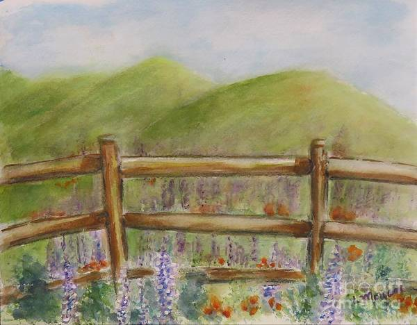 Painting - Lupines With A Side Of Poppies by Laurie Morgan