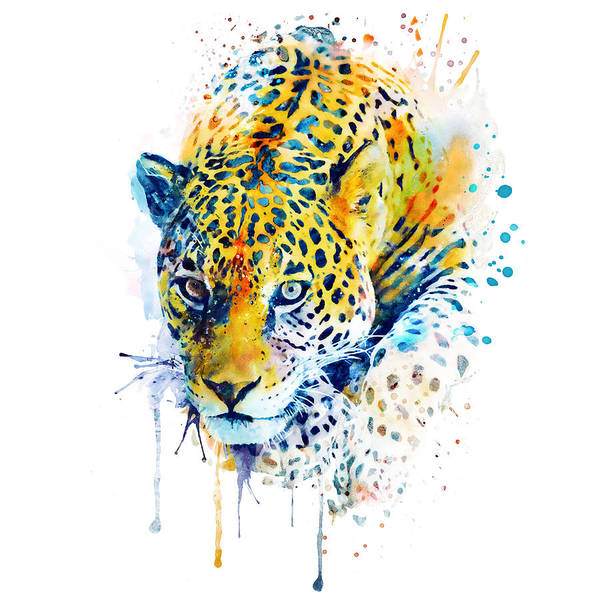 Wall Art - Painting - Lurking Leopard  by Marian Voicu