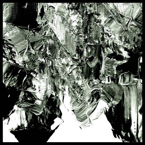 Painting - Luscious  Grayscale  Abstract by VIVA Anderson