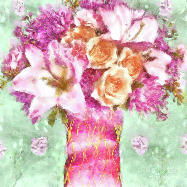 Wall Art - Painting - Lush Watercolor Floral Art Sunday Afternoon by Tina Lavoie
