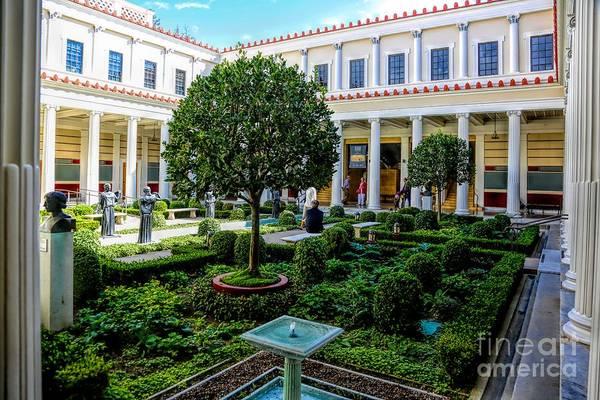 Getty Villa Photograph - Lust Courtyard J P Getty Villa California by Chuck Kuhn