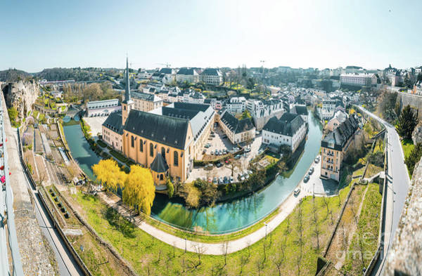 Wall Art - Photograph - Luxembourg City Panorama by JR Photography