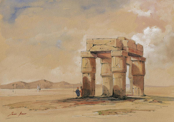 Wall Art - Painting - Luxor Temple by Juan Bosco