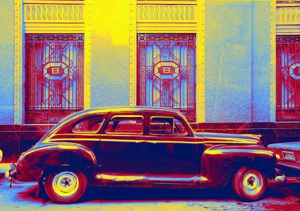 Wall Art - Painting - Luxury Vehicle Gradient Neon Coloring By Ahmet Asar, Asar Studios by Ahmet Asar
