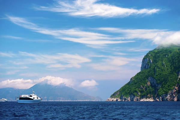 Yacht Photograph - Luxury Yacht In Mediterranean Sea by Swetta