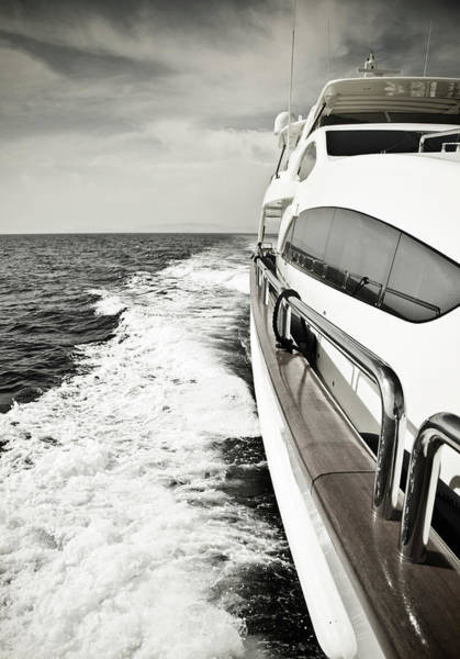 Yacht Photograph - Luxury Yacht Sailing At High Speed In by Petreplesea