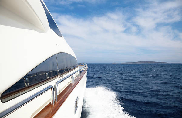Yacht Photograph - Luxury Yacht Sailing In The Ocean by Petreplesea