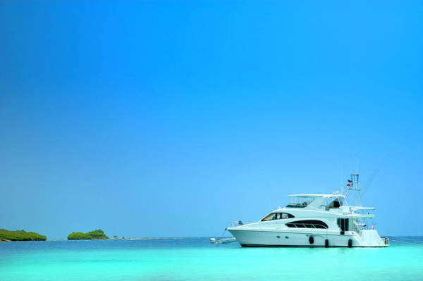 Yacht Photograph - Luxury Yachts Sailing In A Tropical by Apomares