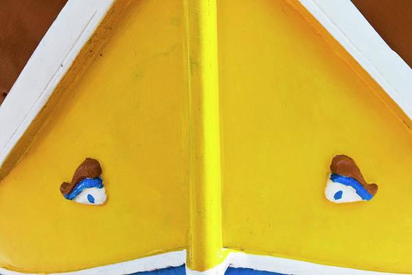 Rowboat Photograph - Luzzu Boat Detail, With Eyes Of Osiris by Nico Tondini