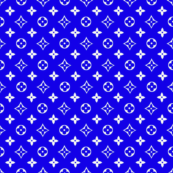 Dior Digital Art - Lv Blue Art by VPPDGryphon