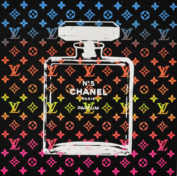 Harlequin Mixed Media - Lv Chanel  by Shane Bowden