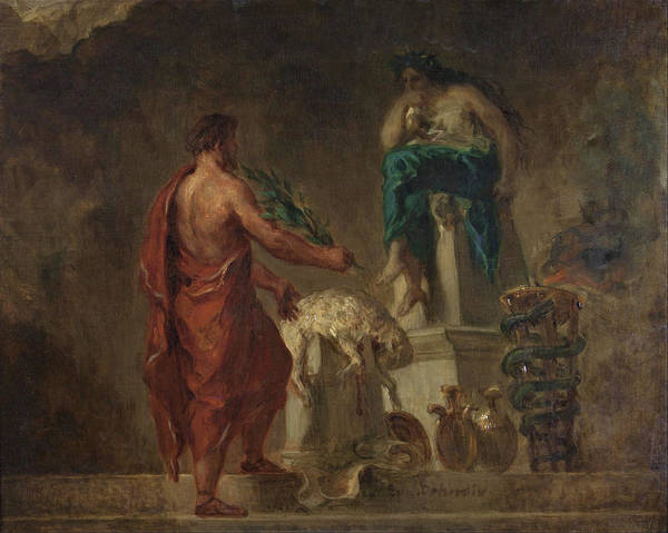 Wall Art - Painting - Lycurgus Consulting The Pythia - Digital Remastered Edition by Eugene Delacroix