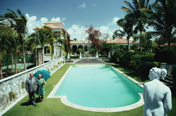 Villa Photograph - Lyford Cay by Slim Aarons