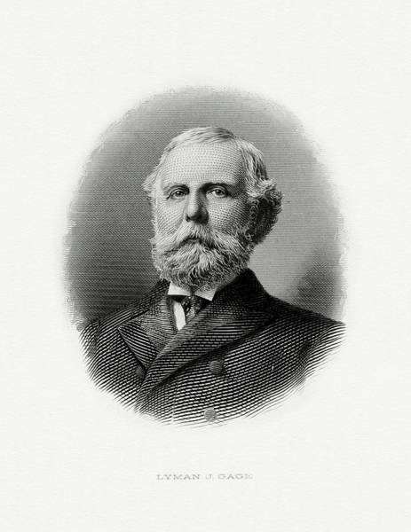 Wall Art - Painting - Lyman J. Gage by The Bureau of Engraving and Printing