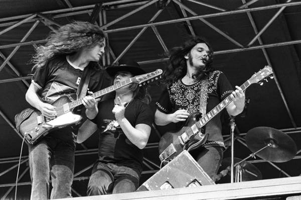 Wall Art - Photograph - Lynyrd Skynyrd Performs Live by Richard Mccaffrey