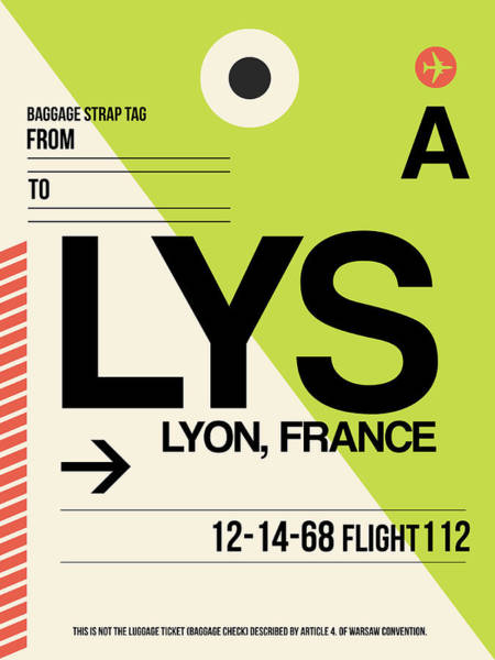 Wall Art - Digital Art - Lys Lyon Luggage Tag I by Naxart Studio