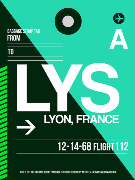 Wall Art - Digital Art - Lys Lyon Luggage Tag II by Naxart Studio