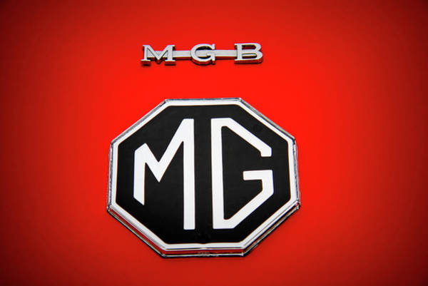 Wall Art - Photograph - M G B Sports Car Emblem And Logo by Nick Gray