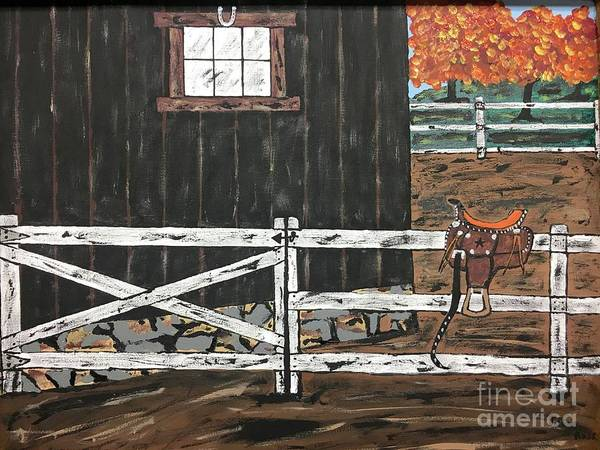 Wall Art - Painting - M T Saddle  by Jeffrey Koss