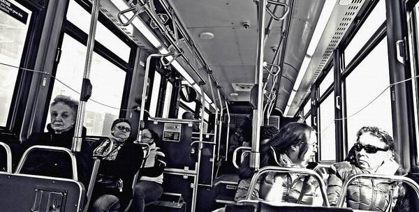 Wall Art - Photograph - M4 Bus Nyc 1    by Sarah Loft