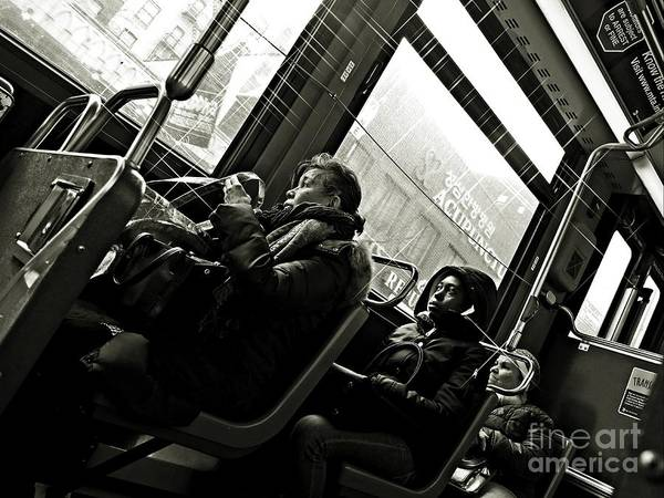Wall Art - Photograph - M4 Bus Nyc 4 Bw by Sarah Loft