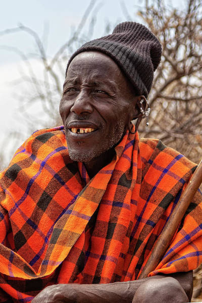 Photograph - Maasai Chieftain by Kay Brewer