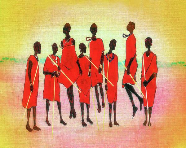 Tribal Dance Digital Art - Maasai Jump by Regina Wyatt