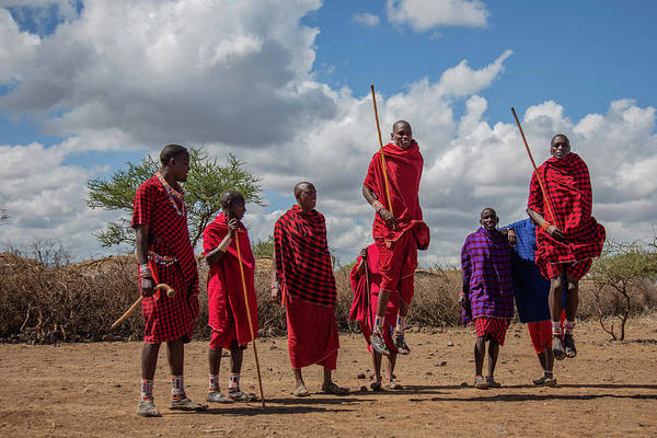 Photograph - Maasai Adumu by Thomas Kallmeyer