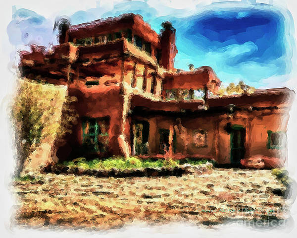 Painting - Mabel Dodge Luhan's Home by Charles Muhle