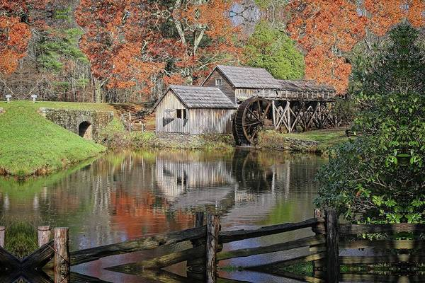 Photograph - Mabry Mill On The Blue Ridge Parkway by Ronald Lutz