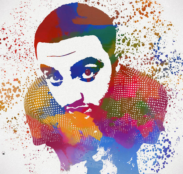 The Mac Wall Art - Painting - Mac Miller Color Splatter by Dan Sproul