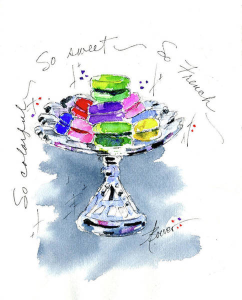 Painting - Macarons On Crystal by Adele Bower