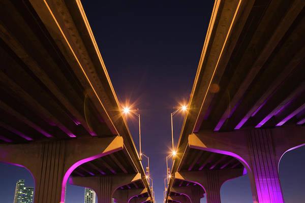 Wall Art - Photograph - Macarthur Causeway Seen From Underneath by Juan Silva