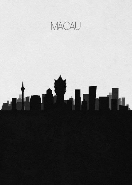 Digital Art - Macau Cityscape Art by Inspirowl Design