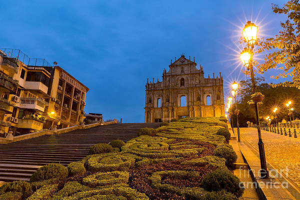 Wall Art - Photograph - Macau Ruins Of St. Pauls. Built From by Vichie81