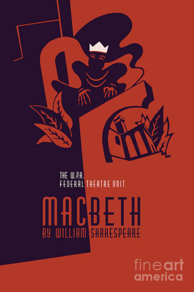 Drawing - Macbeth William Shakespeare by Aapshop